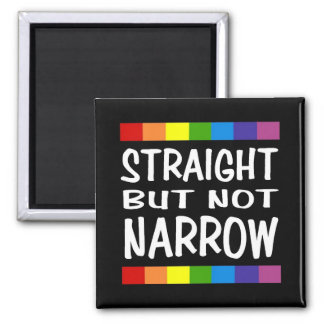 Straight But Not Narrow Magnet - Square