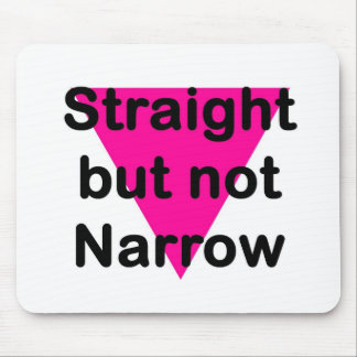 straight but not narrow mouse pad