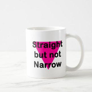 straight but not narrow classic white coffee mug