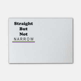 Straight But Not Narrow Post-it® Notes