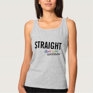 Straight But Not Narrow Rainbow LGBT Ally Basic Tank Top