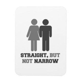 Straight but not narrow rectangular photo magnet