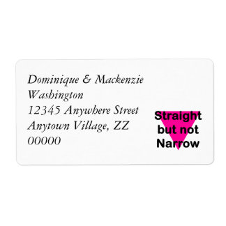 straight but not narrow shipping label