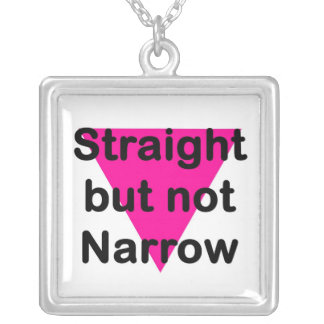 straight but not narrow square pendant necklace