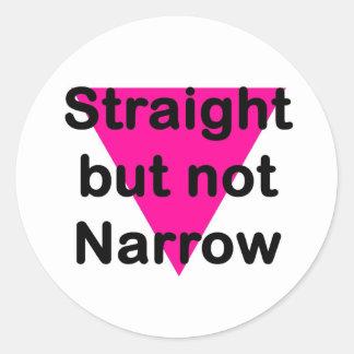 straight but not narrow classic round sticker