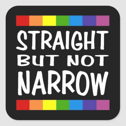 Straight But Not Narrow Sticker - Square