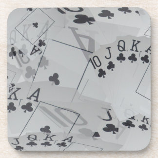 Straight Club Flush Poker Cards Pattern, Coaster