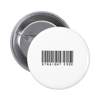 Straight Edge  barcode Button
