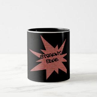 Straight Edge Brick Wall Coffee Mugs