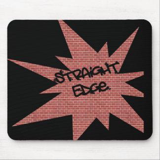 Straight Edge Brick Wall Mouse Pad