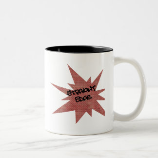 Straight Edge Brick Wall Two-Tone Coffee Mug