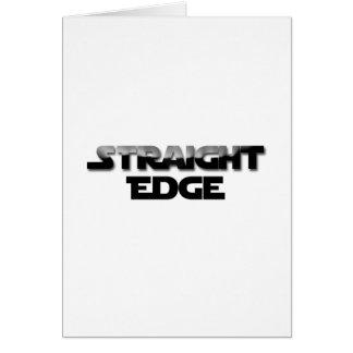 Straight-Edge Card