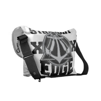 Straight Edge Compass Messenger Bag