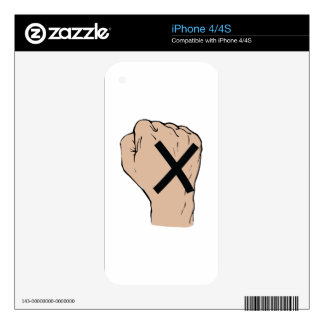 Straight Edge Fist Decal For iPhone 4S