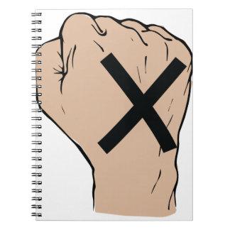 Straight Edge Fist Notebook