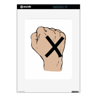 Straight Edge Fist Skins For The iPad