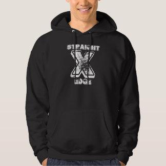 Straight Edge Hooded Sweatshirt