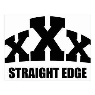 Straight Edge Postcard
