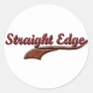 straight-edge-red-fancy classic round sticker
