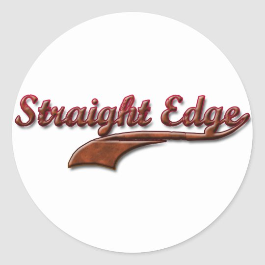 straight-edge-red-fancy classic round sticker
