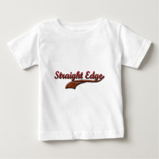 straight-edge-red-fancy infant t-shirt