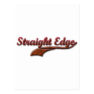 straight-edge-red-fancy postcard