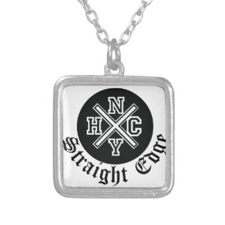 Straight Edge Silver Plated Necklace