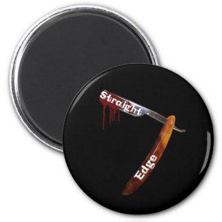 Straight Edge Straight Razor 2 Inch Round Magnet