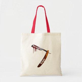 Straight Edge Straight Razor Budget Tote Bag