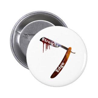 Straight Edge Straight Razor Pinback Button