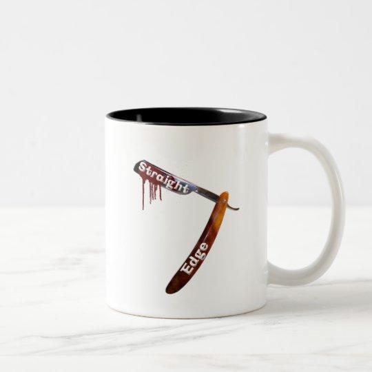 Straight Edge Straight Razor Two-Tone Coffee Mug