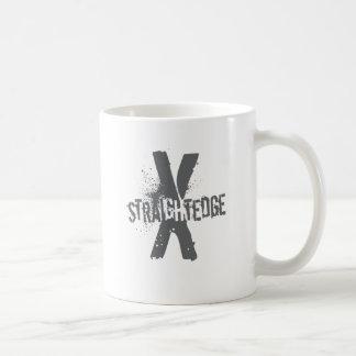 Straight Edge X dark grey Coffee Mug
