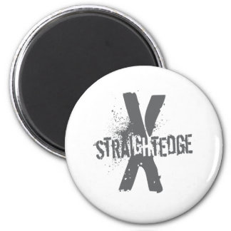 Straight Edge X dark grey Magnet