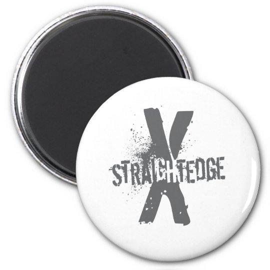 Straight Edge X dark grey Magnet