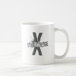Straight Edge X dark grey Classic White Coffee Mug