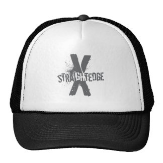 Straight Edge X dark grey Trucker Hat