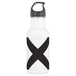 Straight Edge X Stainless Steel Water Bottle
