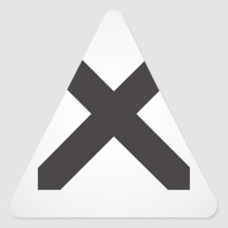 Straight Edge X Triangle Sticker
