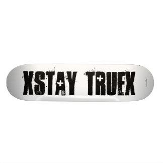 "Straight Edge - ""xSTAY TRUEx Skateboard"
