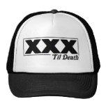 straight edge XXX 'til Death logo cap Mesh Hats