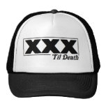 straight edge XXX 'til Death logo cap Trucker Hat