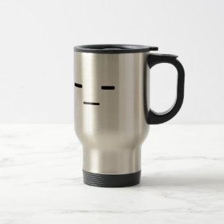Straight Face Black Blue Red Coffee Mug