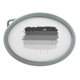 STRAIGHT FLAG DRIPPING OVAL BELT BUCKLE
