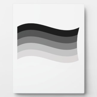STRAIGHT FLAG WAVING PHOTO PLAQUE