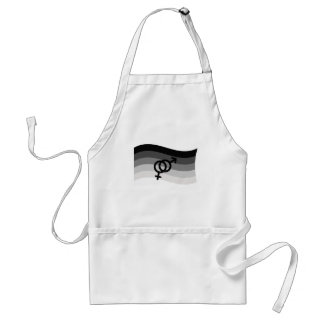 STRAIGHT FLAG WAVING WITH SYMBOL ADULT APRON