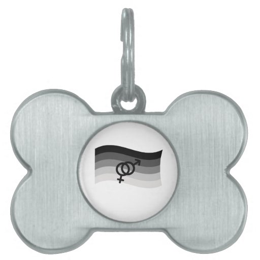 STRAIGHT FLAG WAVING WITH SYMBOL PET TAGS