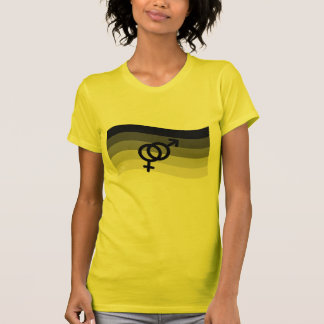 STRAIGHT FLAG WAVING WITH SYMBOL TEE SHIRT