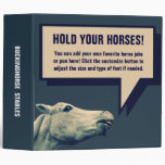 Straight from the HORSE'S Mouth! Funny Binder