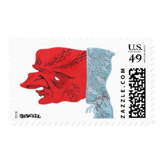 Straight Gangster Macks 4 Postage Stamp
