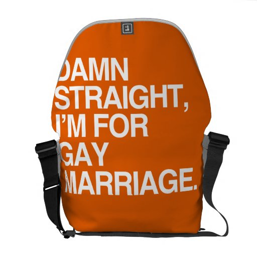 STRAIGHT I'M FOR GAY MARRIAGE MESSENGER BAGS